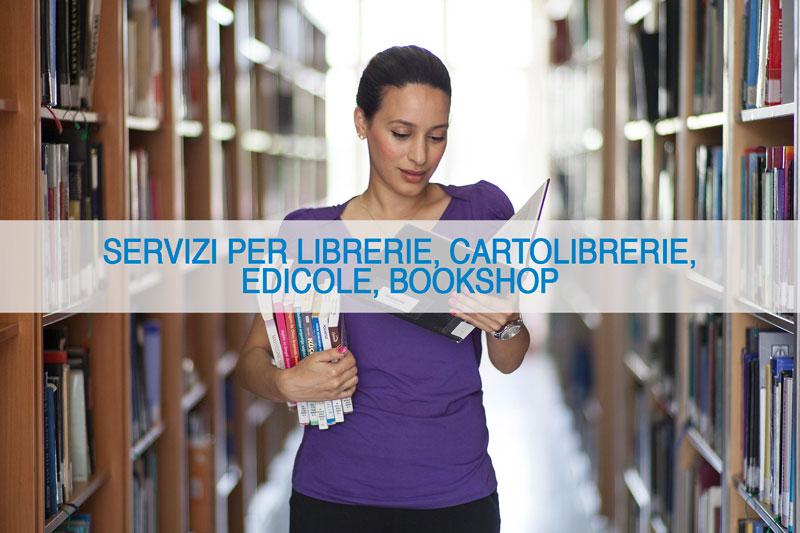 Servizi per librerie, cartolibrerie, edicole, bookshop
